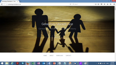 Genealogy Website Header
