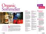 Organic Sommelier spread